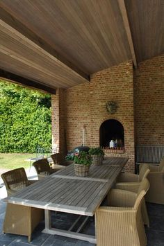terasa: udělat niku - výklenek na svíčku/lampu Outside Room, Outside Living, Outdoor Living, Dutch House, Outdoor Spaces, Outdoor Decor, Architecture Design, Outdoor Furniture Sets, Pergola
