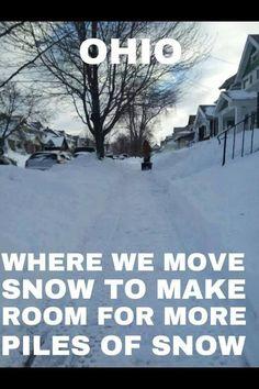 Ohio snow gotta love it ! Cleveland Rocks, Cleveland Ohio, Columbus Ohio, Cincinnati, Ohio Memes, Medina Ohio, Ohio Buckeyes, Youngstown Ohio, Cuyahoga Falls