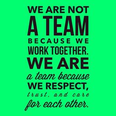 It takes a team to bring a vision to life #QuotesWeLove