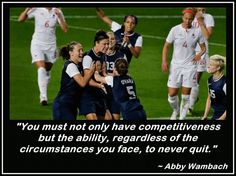 Abby Wambach Olympic Believing is winnin Soccer Post, Soccer Baby, Us Soccer, Play Soccer, Soccer Players, Soccer Stuff, Soccer Motivation, International Soccer, Abby Wambach