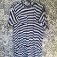 #stripes #tshirtdress #summerdress #dress #navyblue #white #stripesdress #musthave