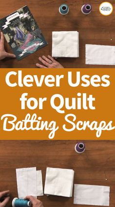 As quilters we often find ourselves with lots of scrap piles, including quilt fabric and batting. In this video, ZJ Humbach shares some clever ideas for how you can use up those scraps of quilt batting in creative and efficient ways. Quilting For Beginners, Sewing Projects For Beginners, Quilting Tips, Quilting Tutorials, Quilting Projects, Patchwork Quilting, Art Quilting, Quilting Board, Machine Quilting Designs
