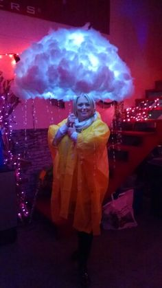 "My sister's ""under a raincloud"" costume. Awesome!"