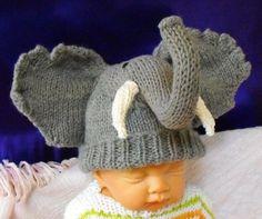 Baby Big Ears Elephant Hat knitting patt