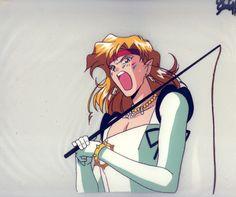 Animation cel: Amazon Trio's Tiger's Eye (Sailor Moon)