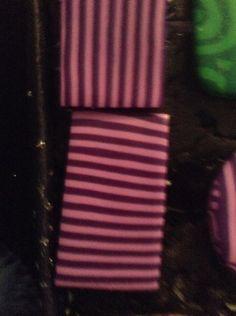 Bague en Fimo pâte polymère rectangle rayures violette horizontales 2,2x3,2 cm : Bague par ys-creations