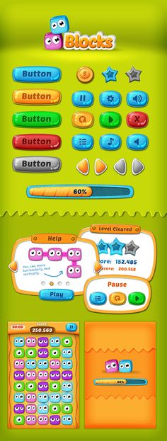 Games - That Monsters - Song trivia - Blocks by Sabrina Torchiana, via Behance