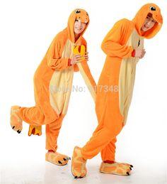 7850f58398a Hot Unisex Adult Pokemon Charmander Kigurumi Animal Onesies Costume Pajamas    Cosplay Anime