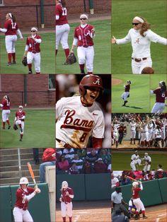 Haylie McCleney Alabama center fielder!!! She is amazing