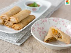 Fried Spring Rolls by Noob Cook. Easy recipe for fried spring rolls (egg rolls) with turnip, mushrooms, cabbage and carrots.