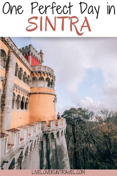 Find the perfect one day Sintra itinerary here with a free map! #sintra #portugal #lisbon #penapalace | Lisbon to Sintra | Sintra day trip | Lisbon day trip | Pena Palace Sintra | palaces in Sintra | castles in Sintra | Sintra in one day | things to do in Sintra | Sintra things to do in | Sintra photo shoot | Instagrammable places Sintra | Sintra Instagram photo spots | best day trips from Lisbon | Quinta de Regaleira | Sintra Portugal day trip | Sintra well | Sintra Instagram spots Travel Europe, European Travel, Solo Travel, Travel Destinations, Portugal Porto, Portugal Travel, Algarve, Pena Palace, Day Trips From Lisbon