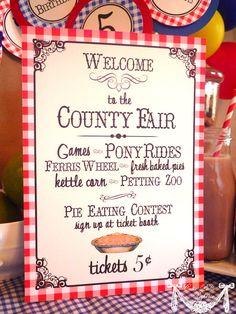 County Fair Party State Fair Party Country Fair by CutiePutti, $5.50