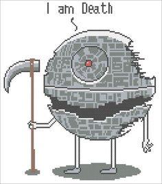 BOGO FREE! Star wars Funny Death Star Star wars - pdf cross stitch pattern instant download #214 by Rainbowstitchcross on Etsy