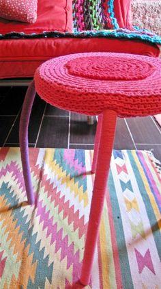taburete crochet