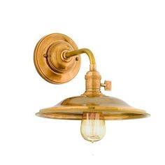 Industrial Saucer Sconce