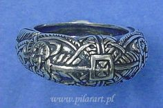 PilarArt.pl - Slavic jewellery: reconstruction of a ring from Lednica, Poland (9th-10th century)