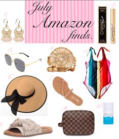 Hey, girls!My favorite blog posts are Amazon blog posts and my favorite purchases are from Amazon. #amazonfinds #amazon #earrings #sunglasses #quay #mascara #sunhat #swimsuits #sandals #samedelman #splendid #kopari #strawbag #organicdeodorant Affordable Swimsuits, Cheap Swimsuits, Best Swimsuits, Affordable Clothes, Cheap Clothes, Cheap Outfits, Amazon Beauty Products, Things To Buy, Stuff To Buy