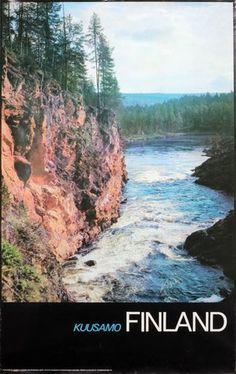 Kuusamo Finland Winter Sports, Finland, Vintage Posters, Skiing, Road Trip, River, The Originals, City, Outdoor