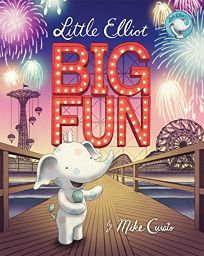 Curato's Little Elliot books take place in a heightened midcentury version of New York City—an ideal setting to showcase the glory days of Coney Island, as he does in this third book. But for Curato's