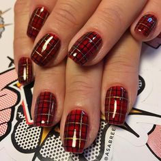 Day 348 christmas plaid nail art plaid nails nails magazine asabree on mermaidvixenwifey mad about plaid fingerbangme nailchurch fingerbang fingerbanggang plaid nail artplaid prinsesfo Choice Image