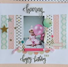 Using the MAY Main Kit by My creative Scrapbook Filled with lots of Crate Paper s Confetti Line