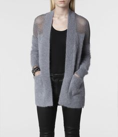 AllSaints Minako Mesh Cardigan | Womens Sweaters