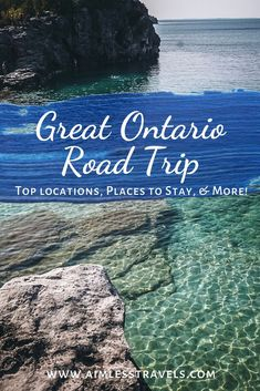 Ontario Canada Road Trip Guide - Best Ontario road trip with popular spots including Bruce Peninsula, Toronto, and Thunder Bay, Ontario Road Trip Map, East Coast Road Trip, Road Trip Destinations, Road Trip Hacks, Camping Hacks, Quebec, Montreal, Vancouver, Ontario Travel