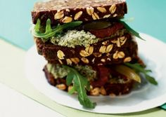 These are amazing,  great summer dish. Edamame Pâté Sandwiches