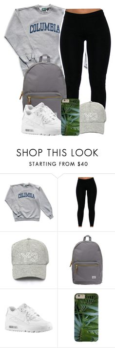 """""""7:2:15"""" by codeineweeknds ❤ liked on Polyvore featuring Columbia, Y-3, Herschel Supply Co. and NIKE"""