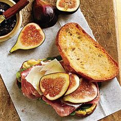 Prosciutto, Fresh Fig, and Manchego Sandwiches | http://CookingLight.com This world is really awesome. The woman who make our chocolate think youre awesome, too. Please consider ordering some Peruvian Chocolate today! Fast shipping! http://www.amazon.com/gp/product/B00725K254