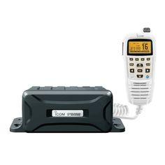 Icom Black Box VHF Marine Tranceiver w/White Command Mic - https://www.boatpartsforless.com/shop/icom-black-box-vhf-marine-tranceiver-wwhite-command-mic/