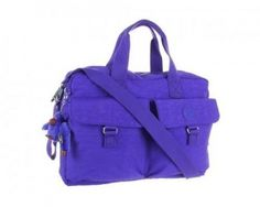 Kipling New Baby Bag - Neon Purple