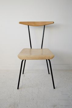 Wim Rietveld 'Dressboy' chair, Auping, Holland 1960 Birch Plywood and black metal