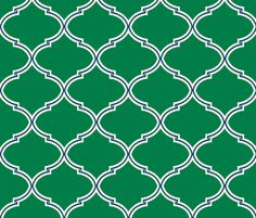 Lily Trellis in Preppy Green and Navy fabric by sparrowsong on Spoonflower - custom fabric