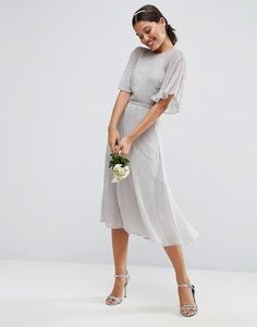 Sweet light grey Bridesmaid dress