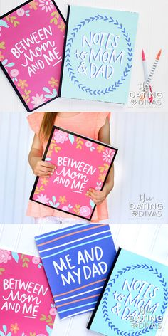 Printable Parent Child Notebook Cover