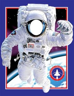 Astronaut photo op banner. Bet we could make this...