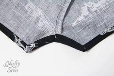 無料パターンとMelly縫っによって10男の赤ちゃんのロンパースステップ
