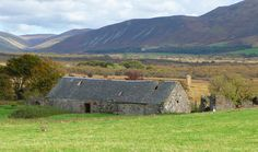 deserted farmhouse with standing stone, machrie moor, isle of arran, scotland. by bearded iris, via Flickr