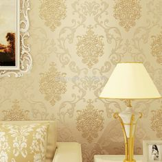 Vintage Classic Beige French Modern Damask Feature Wall paper Roll For Living Room Bedroom papel de parede Wallpaper Rolls Mirrored Wallpaper, Cheap Wallpaper, Damask Wallpaper, Trendy Wallpaper, Wall Wallpaper, Bedroom Wallpaper, Luxury Wallpaper, Paper Wallpaper, Wallpaper Roll