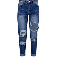 Boohoo Sophie High Waist Distressed Mom Jeans | Boohoo ($28) ❤ liked on Polyvore featuring jeans, pants, bottoms, destroyed jeans, high waisted jeans, high rise jeans, torn jeans and distressing jeans