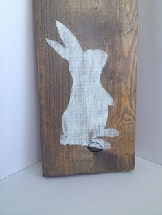 Easter Decoration, Bunny Silhouette Sign