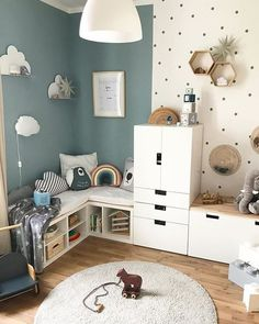 Children's Room; Home Decoration; Home Design; Little Girls; Home Storage;Table setting; Home Furniture; Children's Bed Display; Children's Bed; Wall Decoration;Kids Room Source by MadameOre Baby Bedroom, Girls Bedroom, Boy Toddler Bedroom, Baby Boy Bedroom Ideas, Baby Room Ideas For Boys, Room For Two Kids, Boys Bedroom Paint, Boys Bedroom Decor, Baby Boy Rooms
