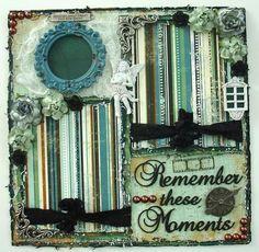 ELITE4U Donna Premade 12x12 Layout Album Bo Bunny Remember These Moments   eBay