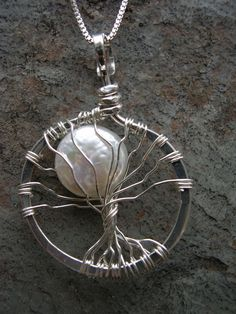 Sterling silver Full Moon Tree with Freshwater by SageJewelryVT, $100.00