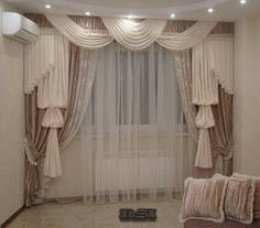 modern living room curtains designs ideas colors styles for hall 2018 New catalogue for latest curtains designs for living room and hall modern 2018 interiors, how to choose the modern living room curtains designs Elegant Curtains, Beautiful Curtains, Modern Curtains, Curtains With Blinds, Living Room Red, Living Room Modern, Living Room Designs, Living Room Decor, Chandelier Wedding Decor
