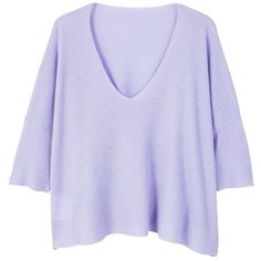 Ramie Sweater (1.565 RUB) ❤ liked on Polyvore featuring tops, sweaters, v neck tops, asymmetric hem top, over sized sweaters, v-neck tops and short sleeve sweater