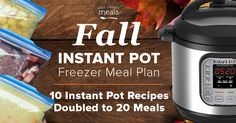 Easily assemble 20 meals that go from freezer to Instant Pot! Fall busy season has never been easier with these quick dinners; perfect for back-to-school!