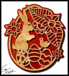 Easter Egg Scroll Saw Pattern. More on coin cutting.
