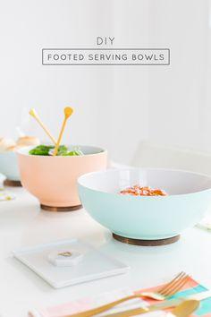 DIY Footed Serving Bowls